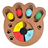UHeng Dogs Puzzle Toys Bones Paw Prints Wooden Fun Feeding Multi-Functional Interactive Toys For Cats Pet Feeder Educational