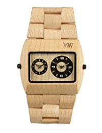 Wewood Men's Jupiter JUPITER-BEIGE Beige Wood Analog Quartz Watch with Beige Dial