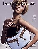 **PRINT AD** With Veronica Varekova For 2006 Dooney & Bourke Blue & Brown Handbags **PRINT AD**