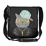 NYYSBU Crossbody Messenger Bag Cat Hip Hop Shoulder Tote Sling Postman Bags One Size