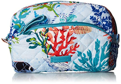 (Vera Bradley Iconic Mini Cosmetic, Signature Cotton, Shore Thing)