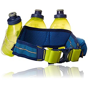 Nathan Mercury 3 Bottle Hydration Belt, Nathan Blue, One Size