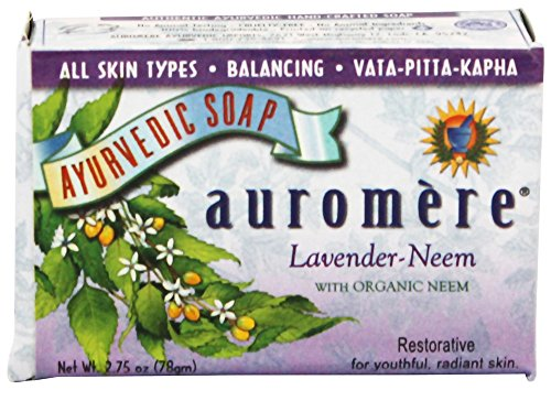 Lavender with Organic Neem – Handmade Herbal Soap (Aromatherapy) with 100% Pure Essential Oils – ALL Natural – Each 2.75 Ounces – ALL Skin Types – Pac…