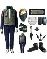 Naruto Hatake Kakashi Cosplay Costume and Shoes Set Size M