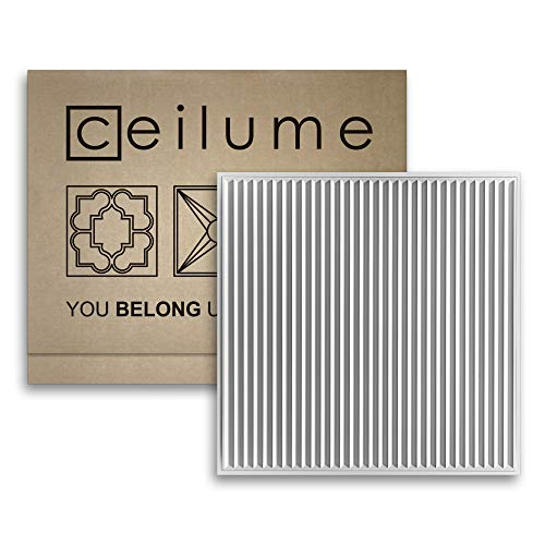 - Ceilume 14 pc Polyline Ultra-Thin Feather-Light 2x2 Lay in Ceiling Tiles - for Use in 1