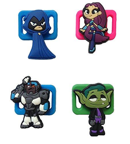 Teen Titans Shoelace Decoration Clips 4 Pcs Set #1 (Batman And Robin Shoes)