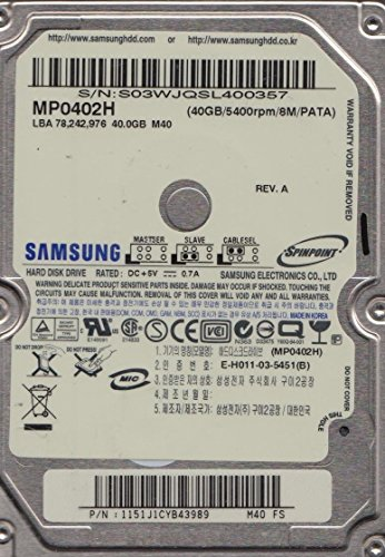 (Samsung Spinpoint M40 MP0402H 40GB ATA-6 Hard Disk Drive)