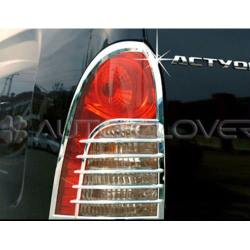(Chrome Tail Light Cover For 2006 2010 Ssangyong Actyon Sports)