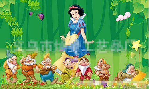 The Snow White with 7 Dwarfs Playing on the Field Crystal Diamond Painting Best Gift for Kids Birthday