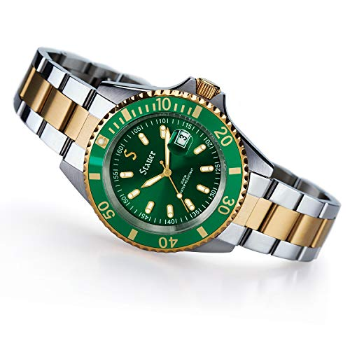 Stauer Men's Stainless Steel Evergreen Diver Watch