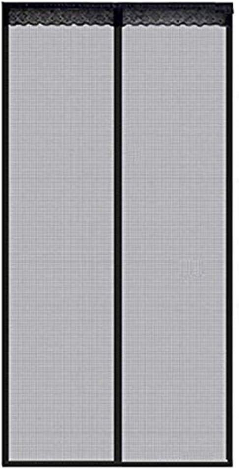 Cortina de la Puerta, Cortina de Malla de Fibra de Vidrio Automática Magnética de Malla para Las Puertas Correderas del Balcón la Sala de Estar Mantiene los Insectos Fuera: Amazon.es: Jardín