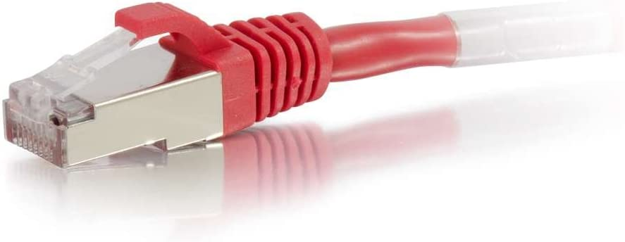 RED NETWORK PATCH CABLE C2G 50FT CAT5E MOLDED SHIELDED STP