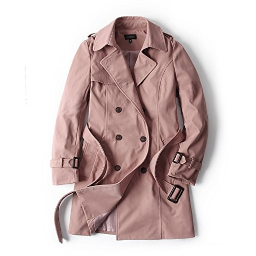 LI SHI XIANG SHOP Spring Autumn Dustcoat Women's Medium Length Coat (Color : C, Size : L) by LI SHI XIANG SHOP