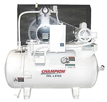 Champion Spark Plugs - chsmoa14 - Depósito de 1 fase horizontal mounted 1HP compresor de aire eléctrico, 30 gal., 100 PSI: Amazon.es: Amazon.es