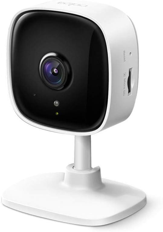 TP-Link IP Camara Vigilancia WiFi Interior, Ideal para Mirar Bebés o Mascotas, Detección de Movimiento, Works with Alexa & Google Home, Audio de 2 Vías, Visión Nocturna, Almacenamiento SD Tapo C10