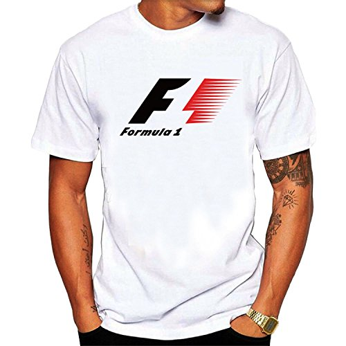 F1 Formula 1 auto racing adult Mens short sleeve T-shirts