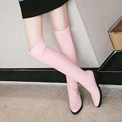 Donna Donna Donna Comodo Comodo Comodo Comodo Stivali Il Stivali Tacco Basso Pink sopra Ginocchio VulusValas ASpwdqS