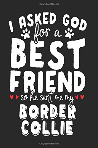 Read Online I Asked God For A Best Friend So He Sent Me My Border Collie: Blank Books & Journals (notebook, journal, diary) pdf epub