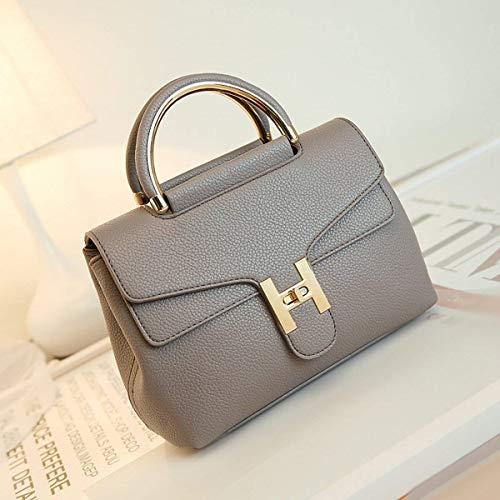 Mode Sac à Messenger modèle Gris bandoulière Noir Paquet Dames Sac Litchi Platine Taille coloré épaule Moontang q8EtW