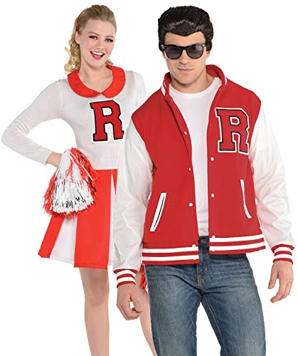Mens and Ladies Couples 1950s 50s Cheerleader Football Jock American Dream TV Movie Film Fancy Dress Costumes Outfits ()