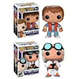 Funko POP Vinyl Figure Back to the Future - Marty Mcfly & Doc Emmet Brown
