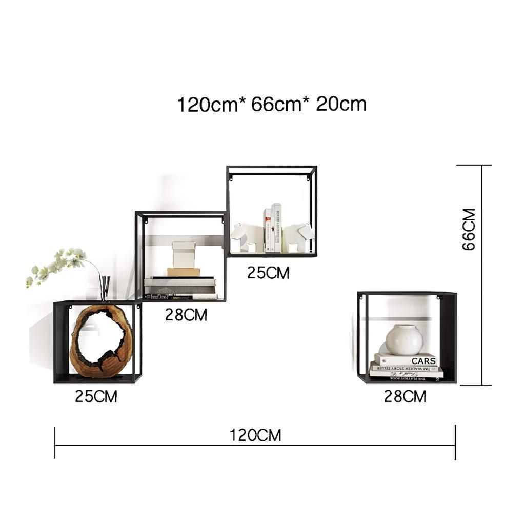 nuevo estilo 4 4 4 Wghz estantería Estantería, Sala de EEstrella, Estante de decoración del hogar (Hierro Forjado) (Tamaño  5)  servicio considerado