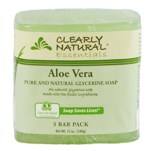 Clearly Natural Glycerine - Clearly Natural Glycerine Bar Soap, Aloe Vera, 12 oz, 3 Count