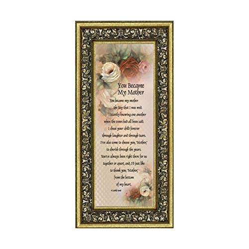 You Became My Mother, Gifts for Mother in Law, In Law Frames, 6x12 7754G (Happy Birthday To My Best Friend Poem)