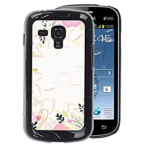 A-type Arte & diseño plástico duro Fundas Cover Cubre Hard Case Cover para Samsung Galaxy S Duos S7562 (Pink Leaves Nature Abstract Clean)