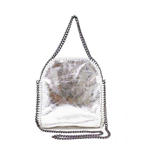 CHAIN Bag LARGE Messenger Silver MINI EDGE Women's Mini Designer Hobo Shoulder Handbag RpWIw