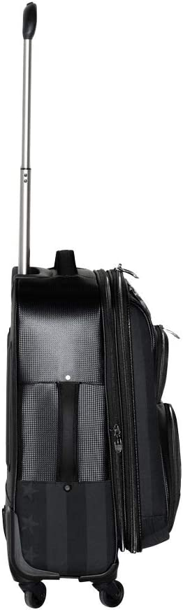 Expandable Carry On Covert Black Subtle Patriot Covert Mens 4 Wheel Cabin Luggage with Hardshell 22 Inches,