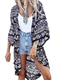 Andyicee Women's Bohemian Floral Print Beach Cover Up Chiffon Kimono Beachwear (multi-color)