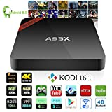NEXBOX A95X Pro TV Box Android 6.0 Amlogic S905X Quad Core 2.0GHz STB KODI 16.1 Pre-installed 2GB RAM 8GB ROM VP9 4K H.265 HDR Media Player BT 4.0 Rooted with Spdif Learning Remote