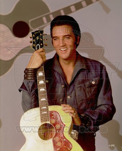 Elvis Presley - Official 8x10 Glossy Photo (holding guitar)