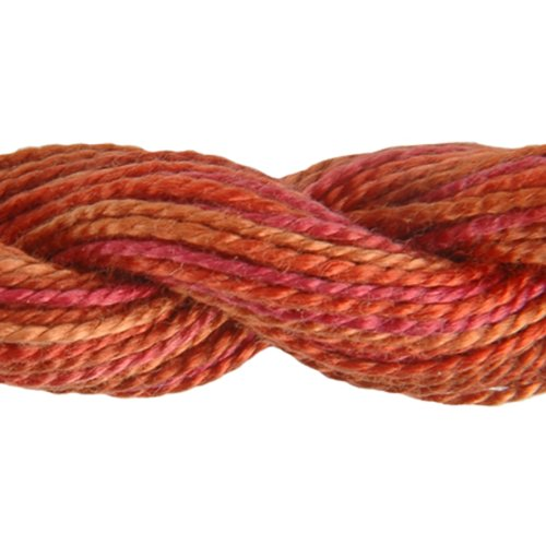 - DMC 415 5-4130 Color Variations Pearl Cotton Thread, Size 5, 27-Yard, Chilean Sunset