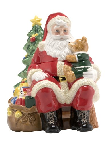 Nikko Ceramics Christmas 3D Santa Cookie Jar (Nikko Christmas Tree)