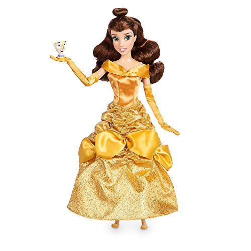 Cogsworth Costumes To (Disney Belle Classic Doll with Chip Figure - 11 1/2 Inch 460013897248)