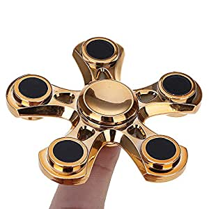 Mmrm Light ADHD Anxiety Autism Stress Reducer Fidget Hand Five Quinary Spinner EDC Toy (random)