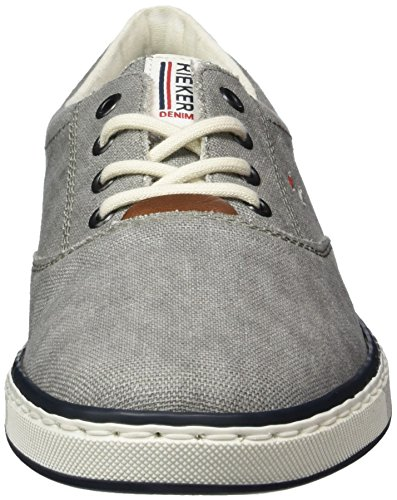Rieker Men's 19650 Low-Top Sneakers, Grey/Kastanie, 7.5 UK Grey (Grey/Kastanie / 40 40)