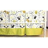 Woodland Animals Box Pleated Crib Skirt