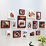 Home@Wall photo frame Plastic Gallery Frame Sets Of Wall Fashion Home Decoration With Usable Artwork And Family, Sets Of 8 ( Color : B )