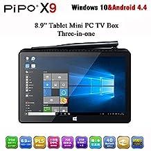 2G+64G Mini PC Tv Box Pipo X9 8.9'' 1920x1200 Dual Boot Smart TV Box Windows 10 Android 4.4 Intel Z3736F Quad Core 2.16GHz