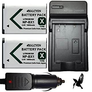 Two Halcyon 1800 mAH Lithium Ion Replacement Battery and Charger Kit for Sony Cyber-shot DSC-RX100 II Digital Camera and Sony NP-BX1 (B00DP3H88G) | Amazon price tracker / tracking, Amazon price history charts, Amazon price watches, Amazon price drop alerts