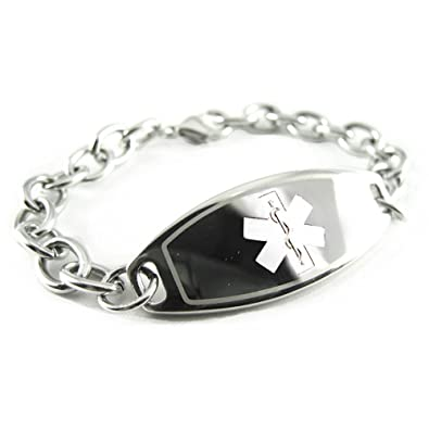item listing id plate bracelet medical for il alert this hemophilia stylish engraved pre like