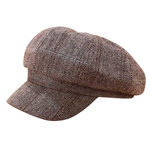 DealinM ???? Berets CapsVintage Women Winter Solid Hat Beret Cap Painter Newsboy Berets