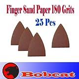 Pack 25 Sandpaper 180 Grits Sand Paper Finger Detail w/loop backing for Fein Multimaster Bosch Multi-x Craftsman Nextec Dremel Multi-max Ridgid Dremel Chicago