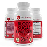 Best Naturels 2-in-1 Blood Pressure + Blood Sugar Support Supplement | Promotes Healthy Blood Glucose + Cholesterol Levels | Organic Blend of UltraCur (Turmeric Extract), Cinnamon, Alpha Lipoic Acid