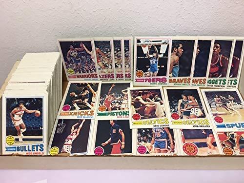 Topps NBA 1977-78 Basketball Card Lot (173) Robert Parrish RC David Thompson Darryl Dawkins John Havlicek STARS Commons MID GRADE ()
