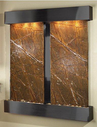 Adagio CFS1506 Cottonwood Falls - Brown Rainforest Marble Wall Fountain