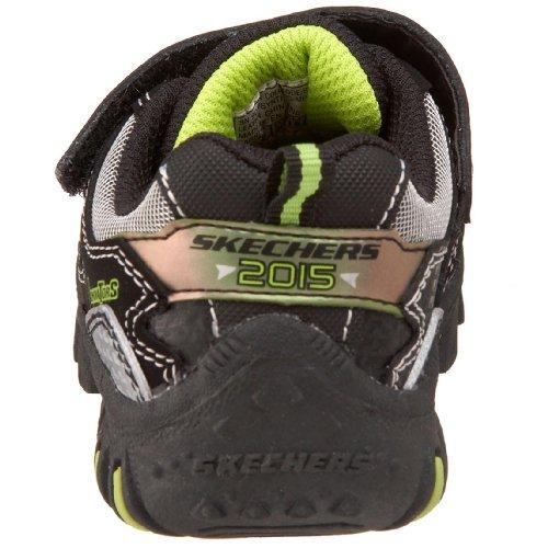 Skechers Damager Spaceship Fashion - Zapatillas de niños con cierre de velcro Negro (Schwarz/BKLM)